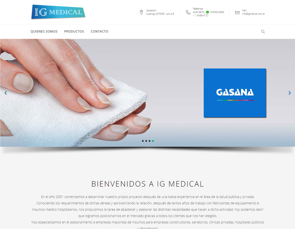 Pagina Web - IG Medical